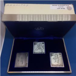 1976 Montreal Pur Silver XXI Olympiad Set of 3 Stamps 15,55gr each