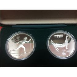 1988 Proof Coin 20$ set of Two Sterling Coin 2 x 1 Troy OZ-Free-Style Skiing
