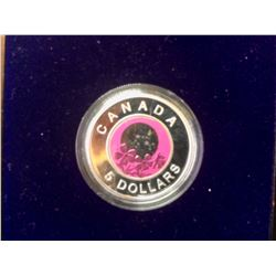 2012 Canada Proof 5$ Sterling Silver Niobium Coin-Full Pink Mooon