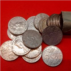 1929 Canada 5 Cents Roll, lot of 40 Pieces.