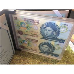 The Central bank of bahamas, christopher Columbus Quincentennial Commemorative Legal tender  2 x 1$