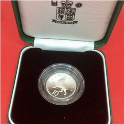 1992 Sterling Silver Proof Piedfort Ten Pence Coin-13 gr, 15 000 Minted only