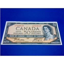 1954 50$ Bank of canada Beattie-Coyne A/H 7164120