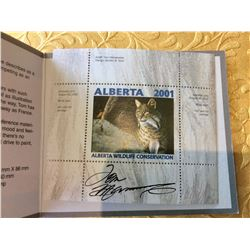Alberta Wildlife Conservation 6$ Stamp, Signed by Artist Tom Mansanarez