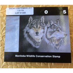 2005 Manitoba Wildlife Conservation 6$ Stamp-Two Wolves
