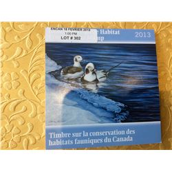 2013 Canada Wildlife Habitat Conservation 8,50$ Stamp - Long-Taled Duck