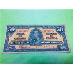 1937 Bank of Canada 50$ Gordon-Towers, B/R0728267 BC-26b