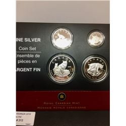 2005 Canada ,9999 Fine Silver Coin Set-Lynx, Lot of 4 Pieces