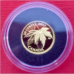 2017 50 Cent Pure Gold Coin-1/25-The Silver Maple Leaf, 1,27 gr pure 99,99%