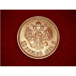 Estate sale: 10 Roubles Gold -1899 G - Nicolas II