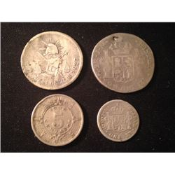 Estate Sale: INT#038 - MEXICO - Lot of 4 Silver Coins - Rare  18,63 gr
