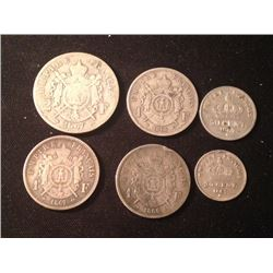 Estate Sale: NAPOLÉON III - Lot of 6 different coins, 28,60 gr