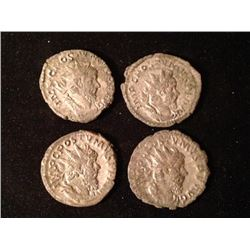 Estate Sale: ROM#033 - IMPÉRIALES - Lot of 4 Different  Antoniniens de Postume  11.37 gr