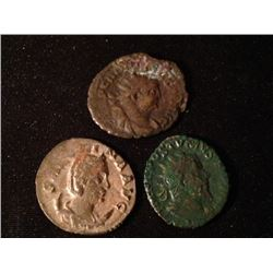 Estate Sales: ROM#027 - IMPÉRIALES - Lot of 3  Different Antoniniens - Carausius, Salonine et Postum