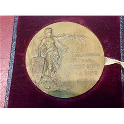HENRY BIRKS & SONS LADY BRITANNIA PRESENTATION MEDAL Extremly Rare In French