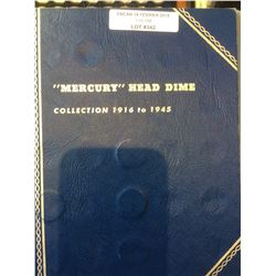 1907-1945 Partial Set Silver Mercury Head Dime Album