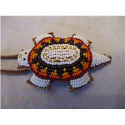 Beaded Sioux Turtle Umbilical Fetish