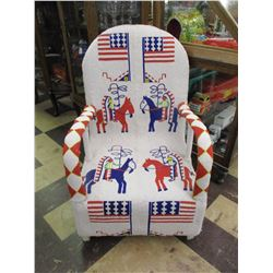 One of a Kind Fully Beaded Full Size Chair