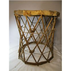 Native American Rawhide Stool Pine Ridge South Dakota Early 1900