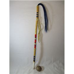 Native American War Club by Sioux Artist Marty Cuny Pine Ridge South Dakota