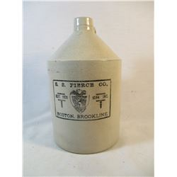 S.S. Pierce Co Crock Jug Boston Brookline