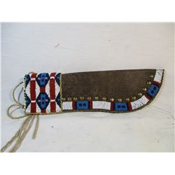Beaded Leather Knife Sheath