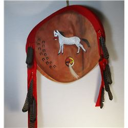 Sioux Native American Painted Shield By Mary Cuny of Pine Ridge South Dakota