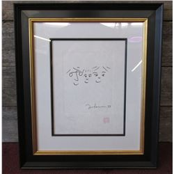 """Signed John Lennon Limited Edition Serigraph 230/300 With Certificate """"Happy Life"""""""