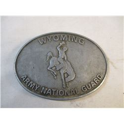Vintage Wyoming Army National Guard Belt Buckle