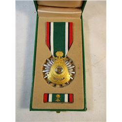 1991 Gulf War Kingdom of Saudi Arabia Liberation of Kuwait Medal and Ribbon Bar in Original Case