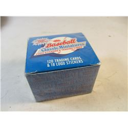 Baseball Classic Miniatures 120 Trading Cards and 18 Logo Stickers Sealed Box