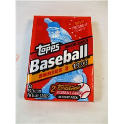 Sealed Topps Baseball Series 2 1993 Card Pack