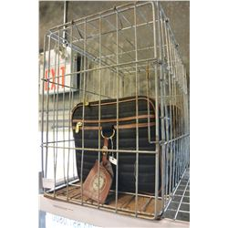 DOG CARRIER AND METAL KENNEL