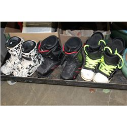 SIZE 12 K2 MENS FORUM SIZE 10 AND VANS SIZE 11 SNOWBOARD BOOTS