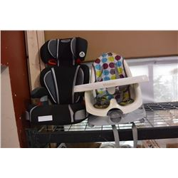 CAR SEAT AND HIGH CHAIR