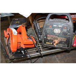 BATTERY CHARGER AND BLACK AND DECKER CIRCULAR SAW