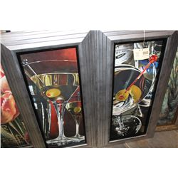 PAIR OF FRAMED PRINTS MARTINI LOUNGE BY FERRERI