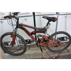 BLACK RED MONGOOSE BIKE