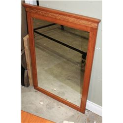 MODERN WOOD FRAMED WALL MIRROR