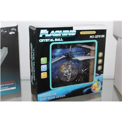BRAND NEW FLASHING CRYSTAL BALL DRONE HEAT SENSORED