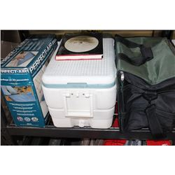 IGLOO COOLER AND COOLER BAG AND PERFECT AIR MATTRESS