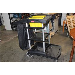 RUBBERMAID JANITORS CART