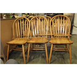 SIX OAK HOOPBACK DINING CHAIRS