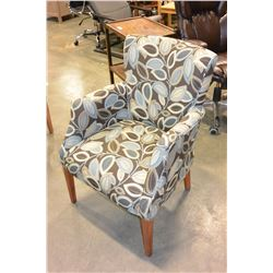 CONTEMPORARY UPHOLSTERED ACCENT CHAIR