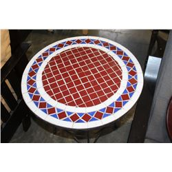 METAL TILE TOP ENDTABLE