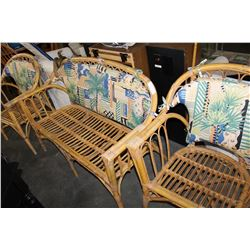 3 PIECE RATTAN CHAIR SET