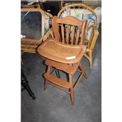 OAK HIGHCHAIR
