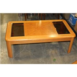 OAK COFFEE TABLE AND ENDTABLE