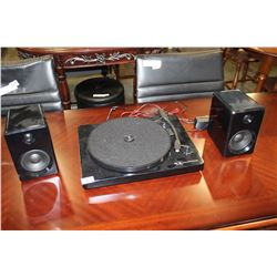 INNOVATIVE TECHNOLOGY TURNTABLE AND SPEAKERS
