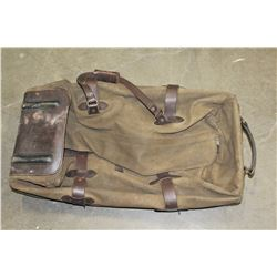 GENUINE FILSON SEATTLE LEATHER AND CANVAS LUGGAGE BAG